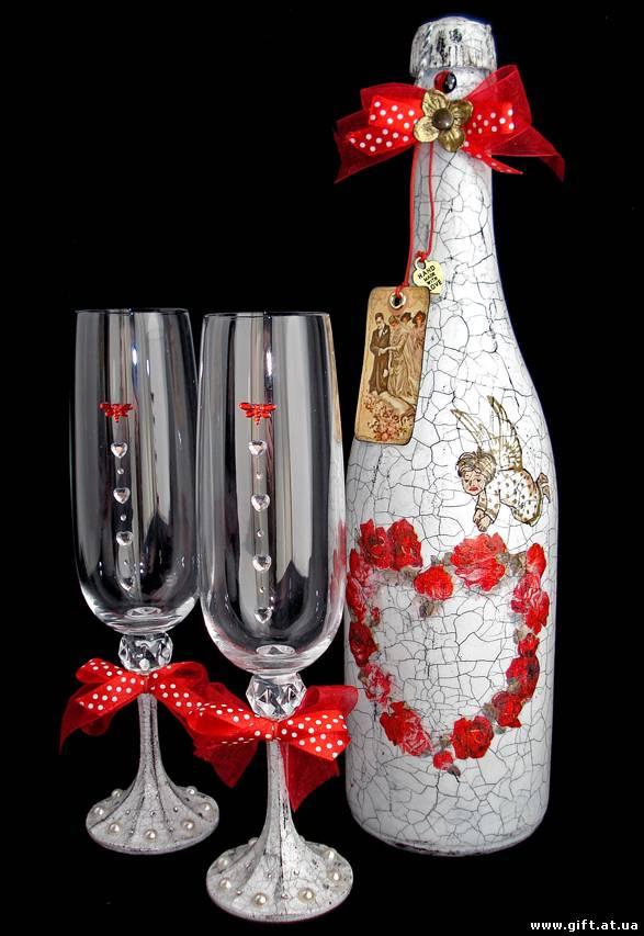 Роспись шампанского на свадьбу - МАСТЕРСКАЯ Жизни